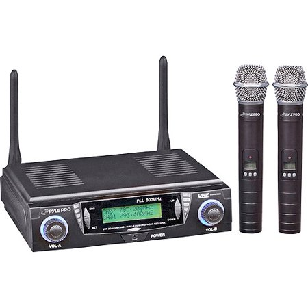 PylePro PDWM3300 UHF Dual-Channel Handheld Wireless Microphone System