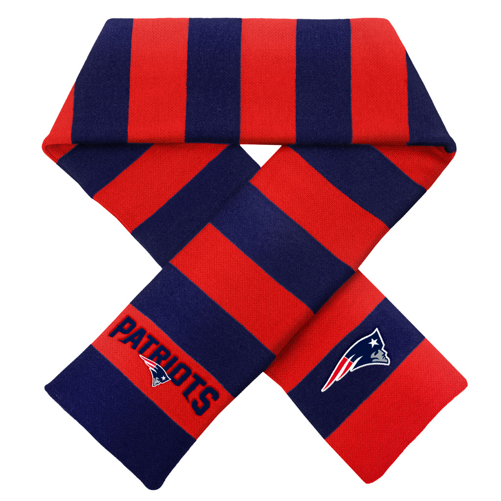 New England Patriots Official NFL Adult One Size Striped Rugby Scarf by Forever Collectibles