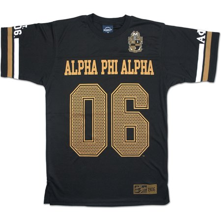 Big Boy Alpha Phi Alpha Divine 9 Mens Jersey Tee [Black - M]