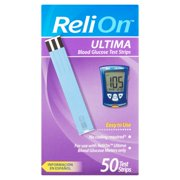 ReliOn Ultima Blood Glucose Test Strips, 50 Ct