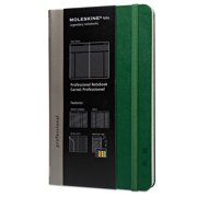 Moleskine Professional Notebook, Plain, 8 1/4 x 5, Oxide Green Cover, 240 Sheets