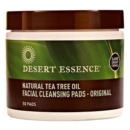 Desert Essence Facial Cleansing Pads Tea Tree Oil 50 Ct Walmart Com