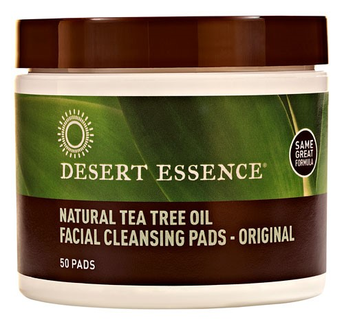 Desert Essence Facial Cleansing Pads, Tea Tree Oil, 50 Ct