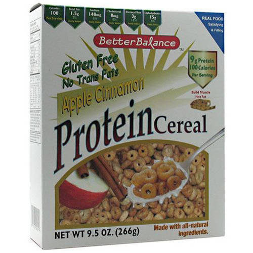 Kay's Naturals Better Balance Apple Cinnamon Protein Cereal, 9.5 oz, 6 count, (Pack of 3)