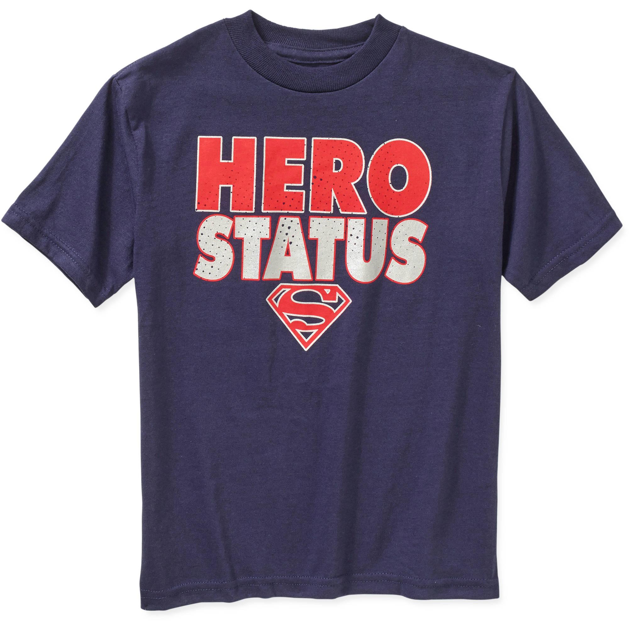 DC Comics Superman Hero Status Boys Graphic Tee