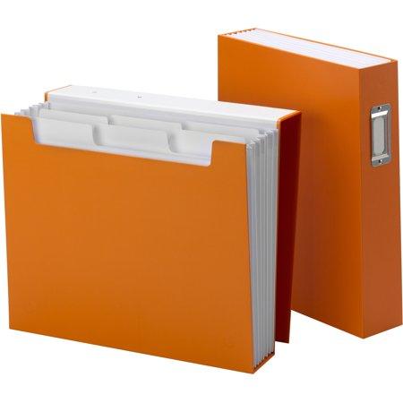 Smead SMD70868 Bookshelf Organizers With SuperTab 1 Each Orange