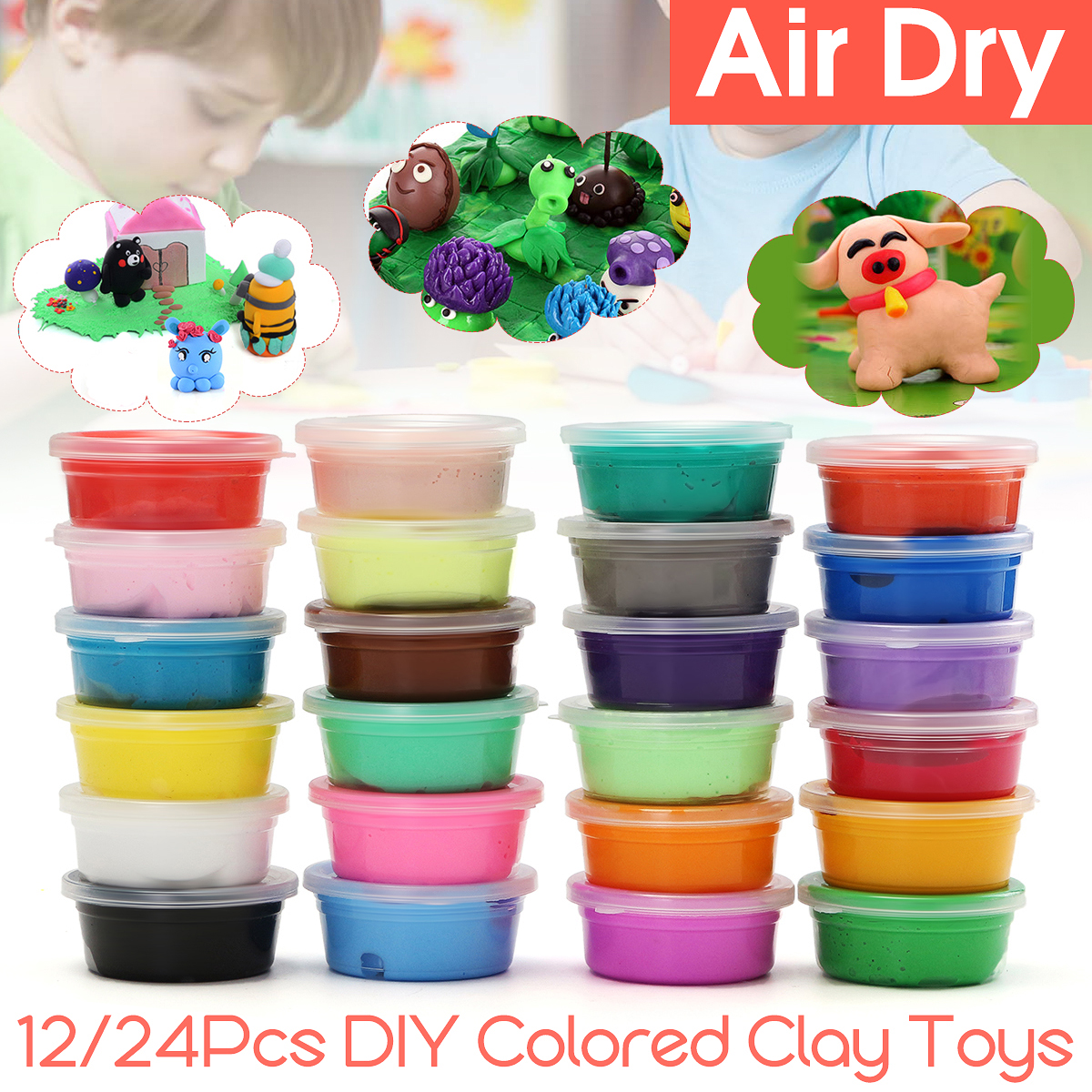 Slime Toys Colored Clay Air drying claytool Soft Polymer Eco-friendly Material Modelling Clay Educational toy