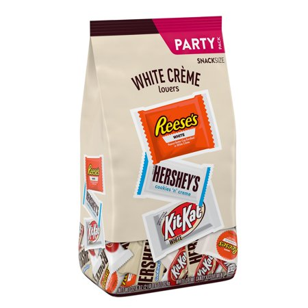 HERSHEYS, REESES & KIT KAT® Assorted White Crème Snack Size Candy Bars, Bulk, 32.6 oz, Party Bag (Approx. 59 Pieces)
