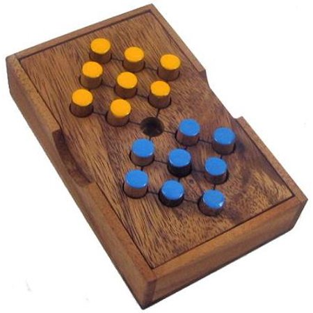 Switch Eight Wooden Brain Teaser Puzzle