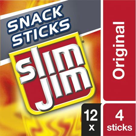 Slim Jim Snack-Sized Smoked Meat Stick Original Flavor 1.12 Oz. 12-Count