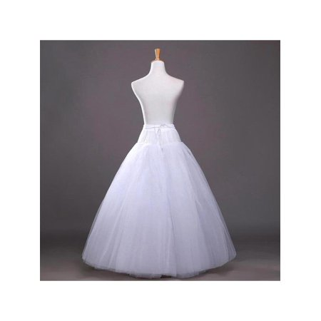 No Hoop 8 Layer Bridal Petticoats Slips Dress Petticoat Wedding Dress White Long Underskirt Petticoats Crinoline - Hoop Dresses For Sale