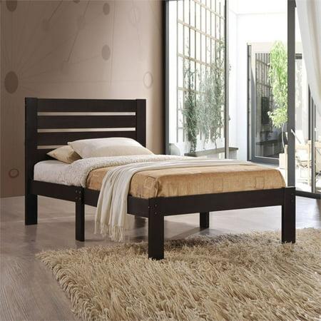 Kingfisher Lane Twin Bed in (Bed Twin Chocolate)