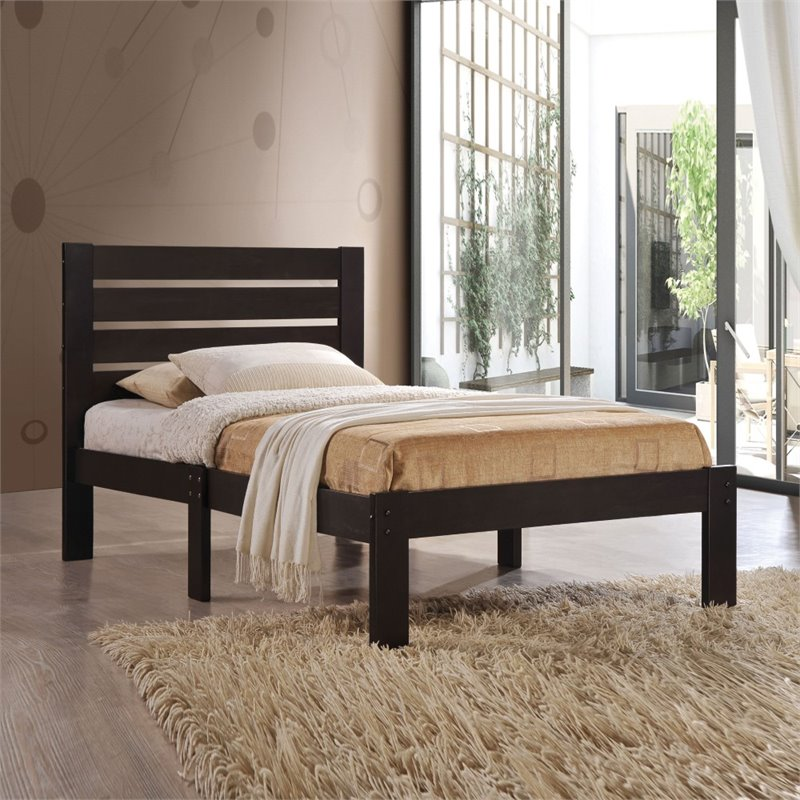 Kingfisher Lane Twin Bed in Espresso