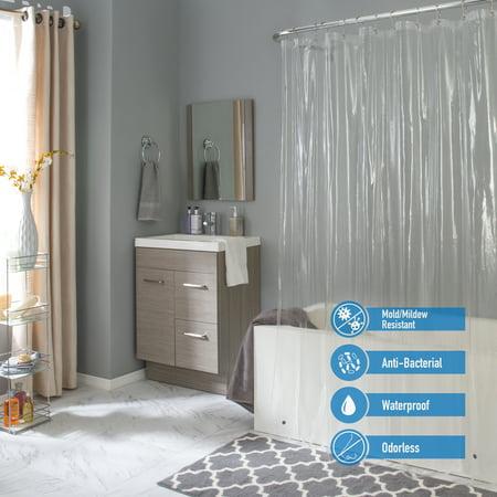 Bath Bliss Splash Guard Shower Liner in Clear