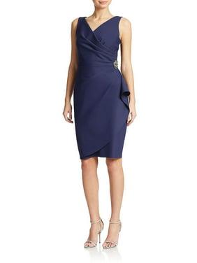 Alex Evenings NEW Summer Plum Purple Womens Size 2 Ruched Sheath Dress