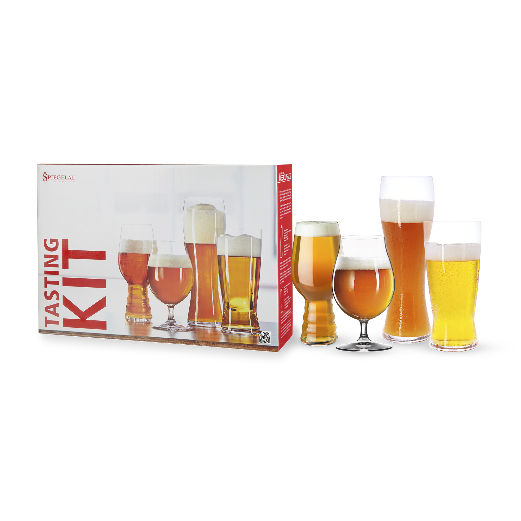 Spiegelau Classic Beer Glass Tasting Kit Set of 4