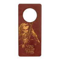 Door Hanger - You Shall Not Pass 9x4in RED Painted Wood