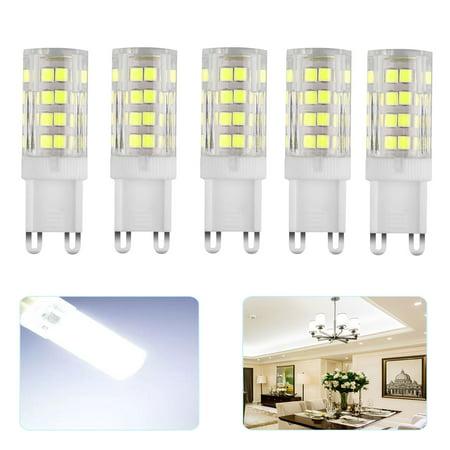 EEEKit G9 LED Light Bulb Dimmable, 5W Cool White 6500K 550LM Bi-pin Base Bulbs Light AC 110V 50W (52pcs SMD LEDs) G9 Halogen Lamp Equivalent for Chandelier, Ceiling Fan Lighting-10