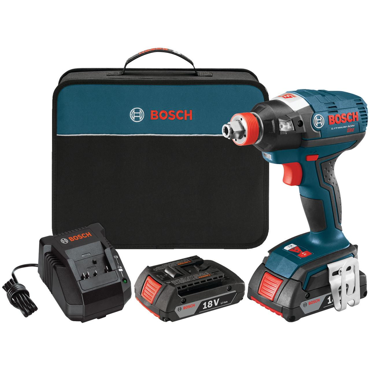 "Bosch IDH182-02 18-Volt Brushless 1/4"" & 1/2"" Socket-ready Impact Driver Kit"