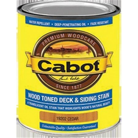 Cabot 19202 1 Quart, Cedar Wood Toned Deck & Siding