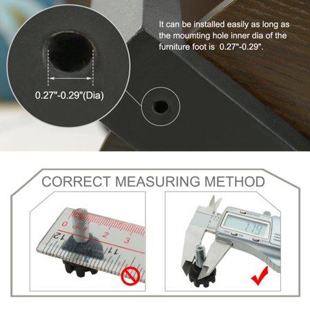 M8 x 17 x 20mm Furniture Glide Leveling Feet Adjuster Pad for Sofa Leg 16pcs - image 6 of 7