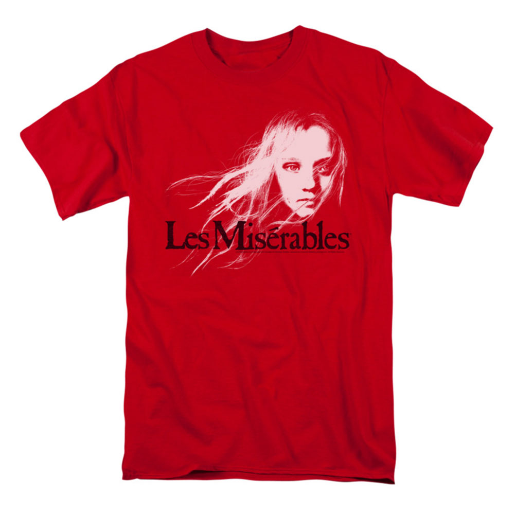 Les Miserables Men's  Textured Logo T-shirt Red
