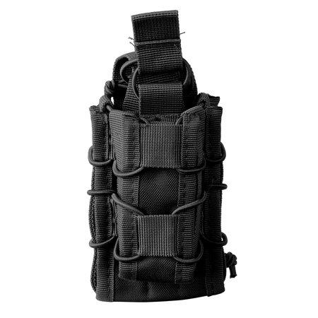 Tactical MOLLE Open Top Double Decker Mag Pouch Magazine Bag, Black