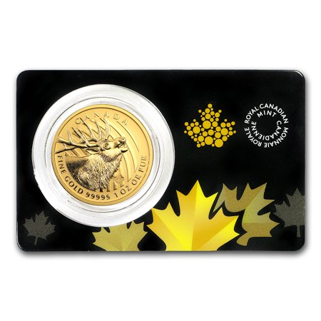 2017 Canada 1 oz Gold Elk .99999 BU (Assay Card)