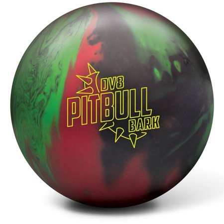 - DV8 Pitbull Bark Bowling Ball- Black/Red/Green 14lbs