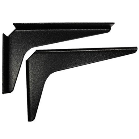 Workstation Brackets - Am0812 B 8 In. X 12 In. Work Station Brackets - Black