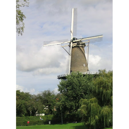 Canvas Print Windmill City Building Holland Netherlands Stretched Canvas 10 x 14 (Wind City Sole)