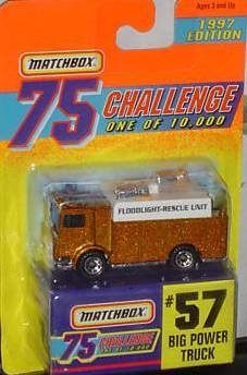 Matchbox Limited Edition 75 Challange #57 Big Power Truck 1 of 10,000 1997 Edition by Matchbox