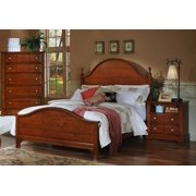 Panel Bed w Nightstand & Chest in Cherry Finish (Full)