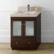 Glass cabinet doors for Bathroom vanity with frosted glass doors