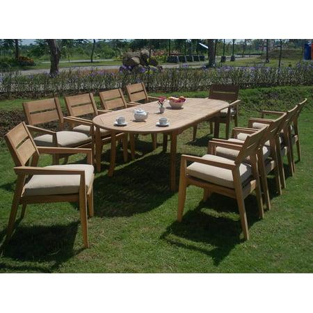 Teak Dining Set:8 Seater 9 Pc - Large 118