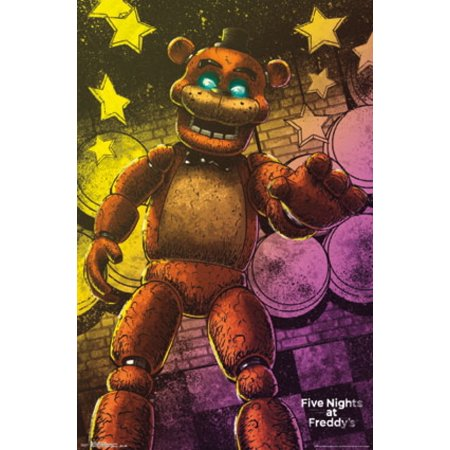 Five Nights At Freddys Classic Freddy Poster Print