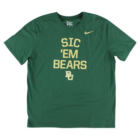 Nike Mens Baylor Bears College Local Verbiage T Shirt Green