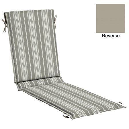 Better Homes & Gardens Grey Stripe Outdoor 78 x 22 in. Sling Chaise Cushion w EnviroGuard ()
