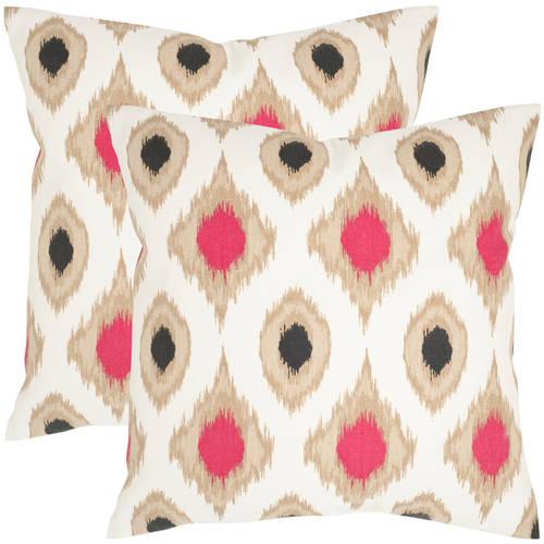 Safavieh Miranda Taupe Pillow, Set of 2