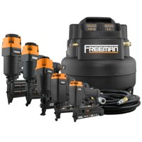 Deals on Freeman 5-Piece Finish Nailer Kit w/6 Gallon Compressor & Accessories