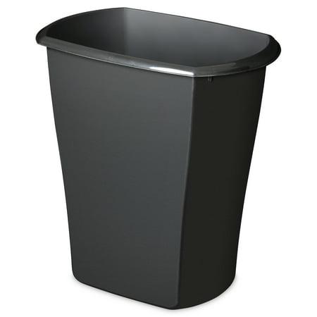 Sterilite 10 Gal Rectangular Wastebasket, Black