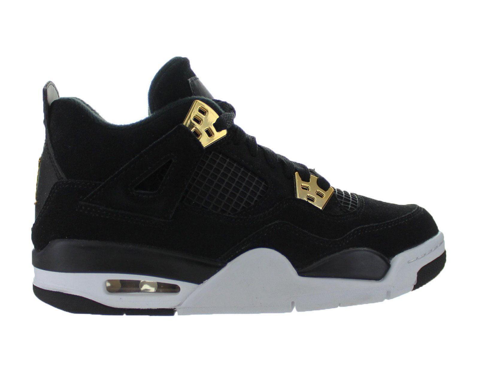 Jordan - Kids Air Jordan 4 IV Retro GS Royalty Black Gold 408452-032 -  Walmart.com 04953bac2