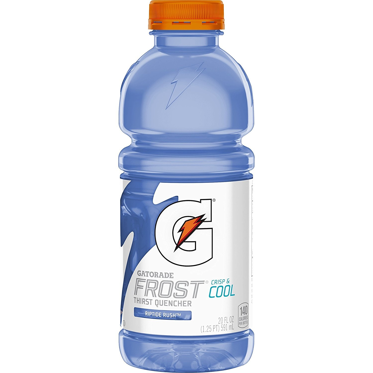 Gatorade Frost Thirst Quencher Sports Drink, Riptide Rush, 20 oz Bottles, 12 Count