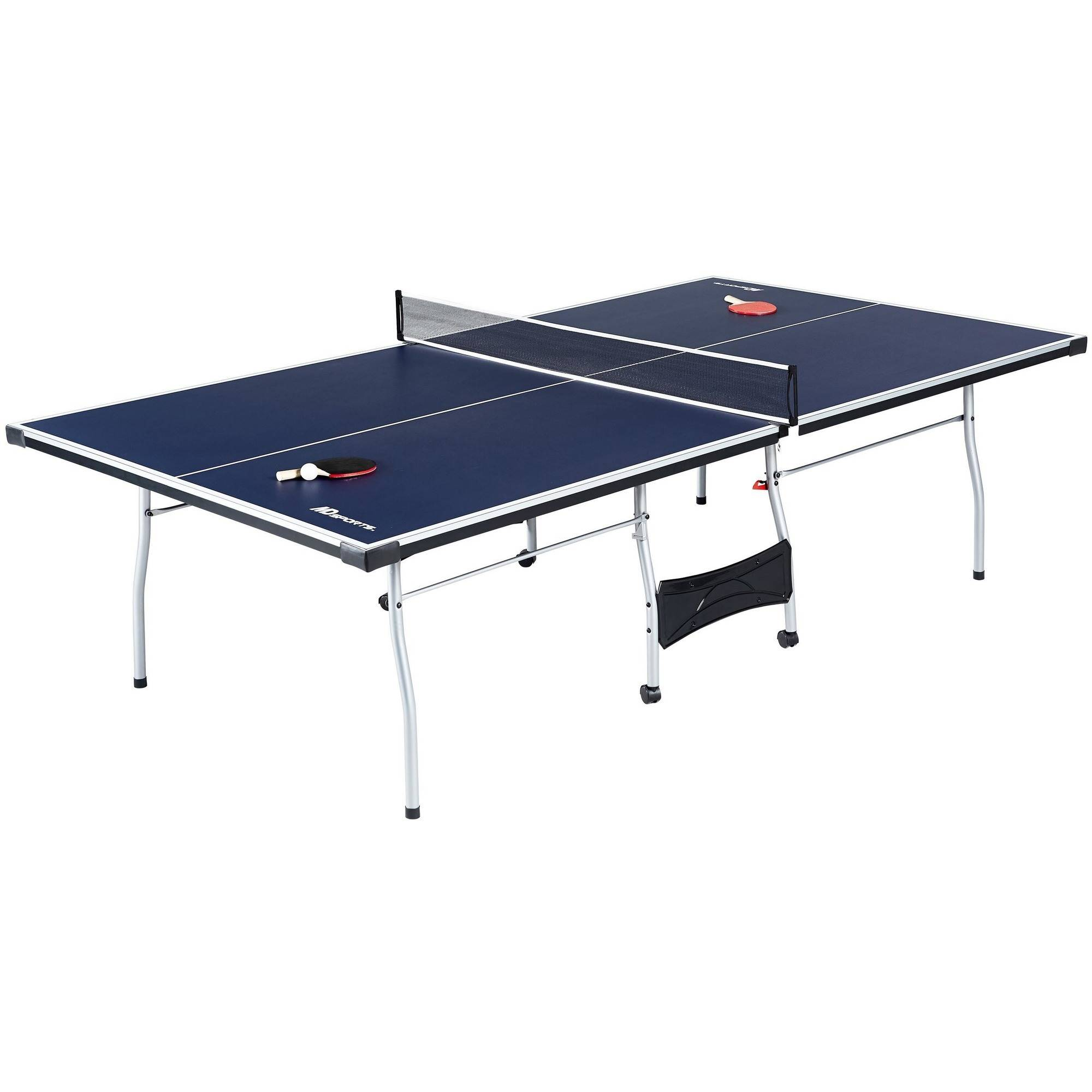 Charmant MD Sports Official Size Table Tennis Table, With Paddle And Balls,  Blue/White