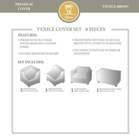 - TK Classics Venice 08bWC 8 Piece Conversation Set Cover