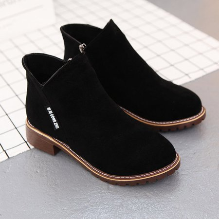 Women Ankle Boots Short Martin Boots Chunky Heels Boots Female Fashion Shoes - image 3 of 10