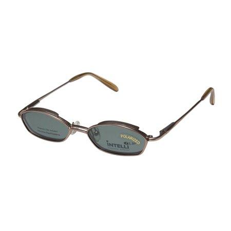 New Elite Collectible Clipon Eyewear 765 Unisex/Boys/Girls/Kids Designer Full-Rim Sand Frame Demo Lenses 44-16-125 Sunglass Lens Clip-Ons Spring Hinges (Where To Buy Clip On Sunglasses)