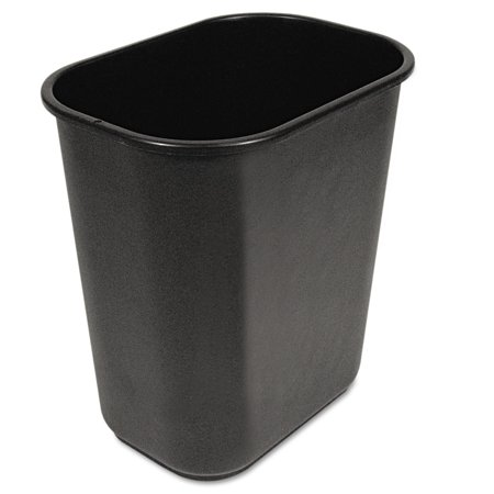 Boardwalk Soft-Sided Wastebasket, 28qt, Black - Medium Soft Wastebasket
