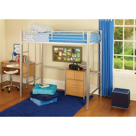 Your zone twin metal loft bed multiple colors for Furniture zone beds