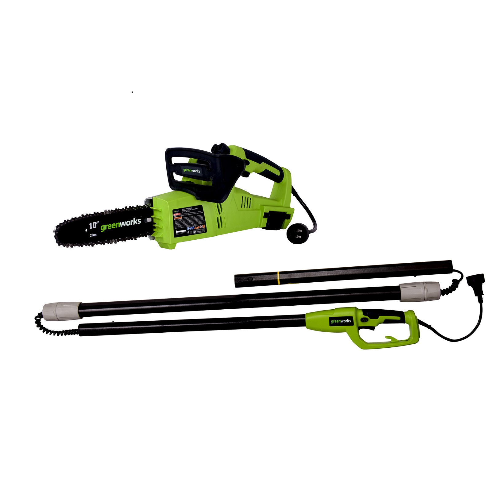 Greenworks 10-Inch 6 Amp Corded Chainsaw & Pole Saw Combo PSCS06B00 by Sunrise Global Marketing, LLC